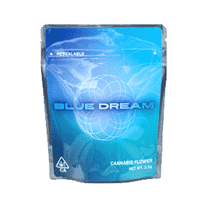 Ready Made Blue Dream Strain Cali Pack Mylar Bags/Pouches