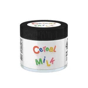 Cereal Milk Glass Jars. 60ml suitable for 3.5g or 1/8 oz.
