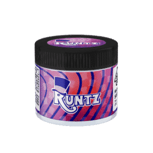 Runtz Glass Jars. 60ml suitable for 3.5g or 1/8 oz.
