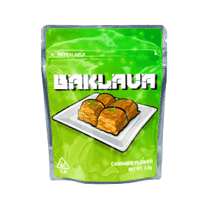 Baklava Ready Made Strain Cali Pack Mylar Bags/Pouches